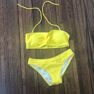 Other - NWOT Yellow bikini swimsuit
